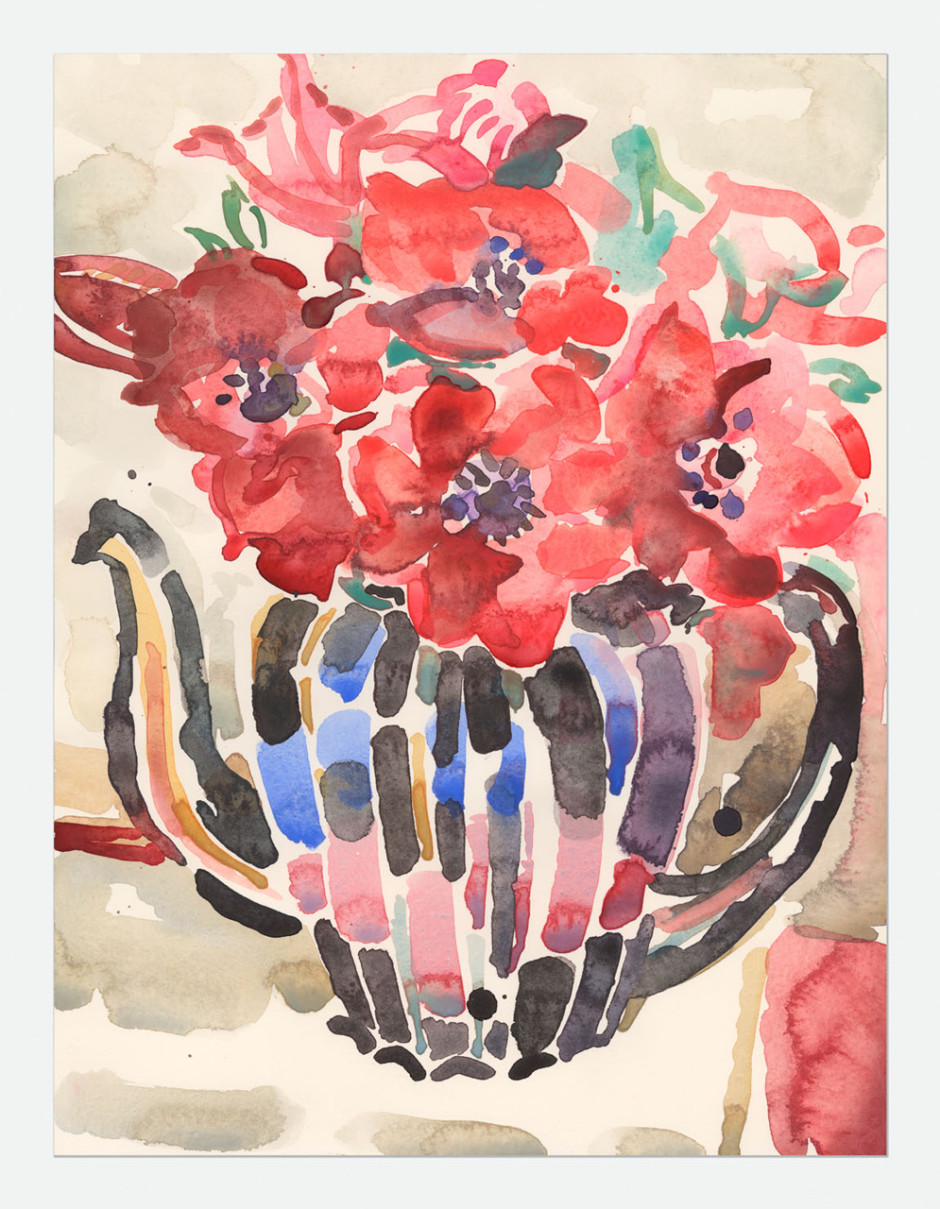 Black teapot, Anemones, We, 2015